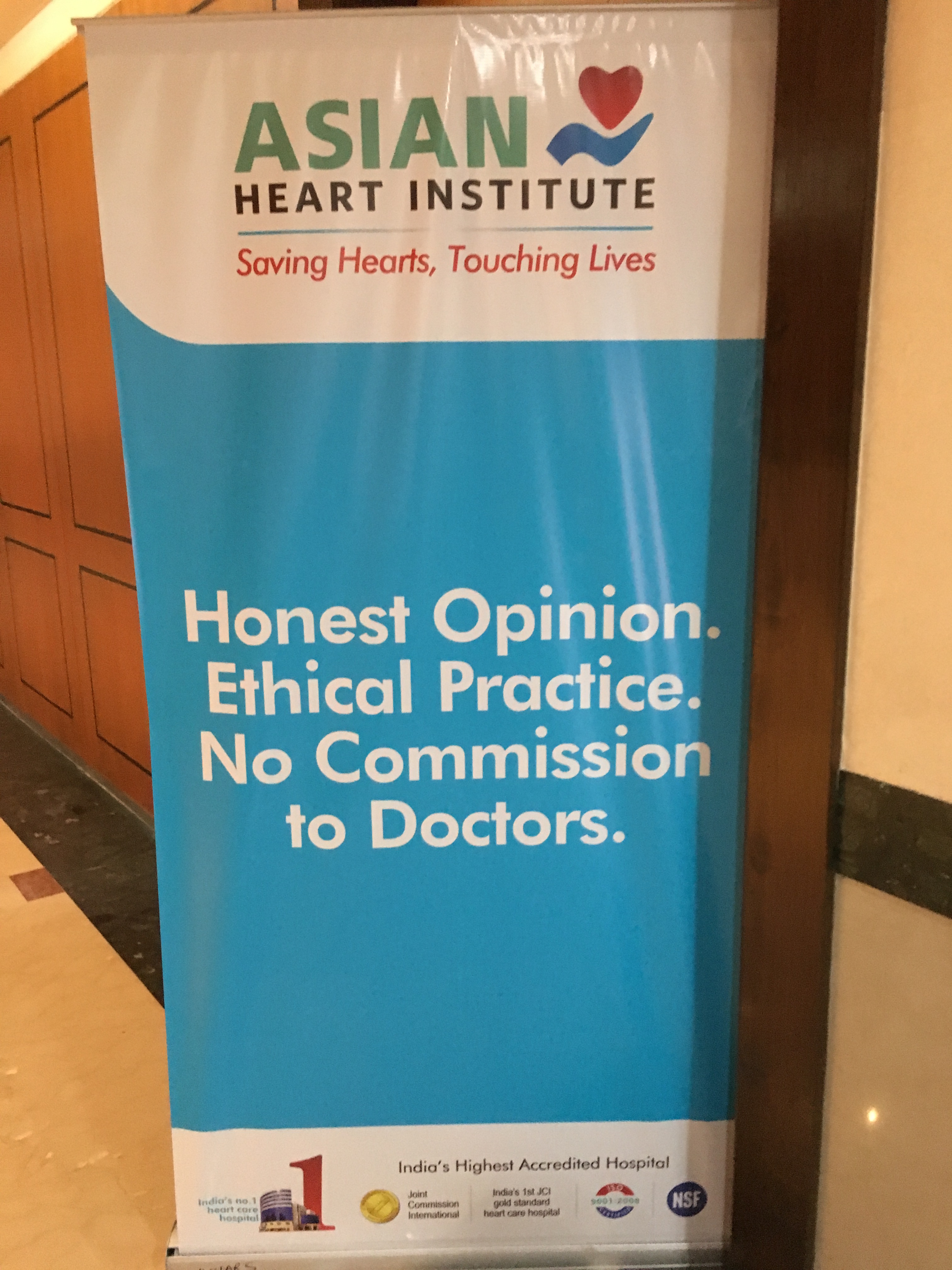 A sign at a conference at the Asian Heart Hospital in Mumbai, which has started a campaign against cut-practice. (Photo: Priyanka Vora)