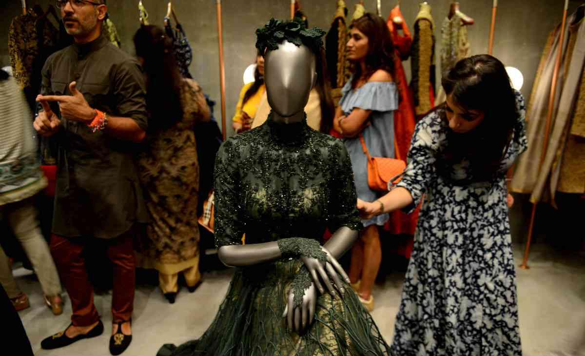 The Vogue Wedding Show. Photo credit: Money Sharma/AFP.