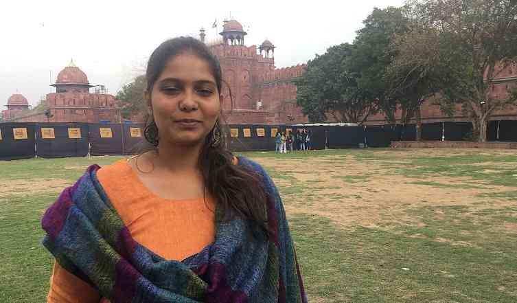 Sabika Abbas Naqvi at the event in Delhi. Photo credit: Vijayta Lalwani