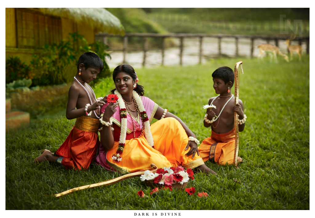 Sita, with Luv and Kush. (Photograph by Nilesh Nil)
