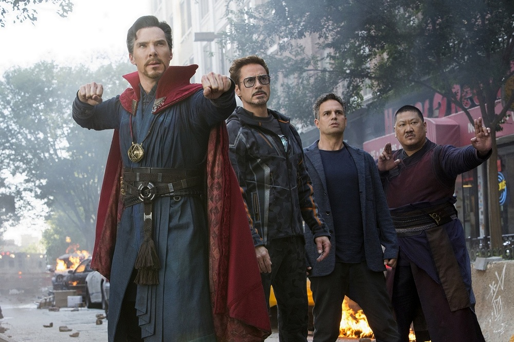 Benedict Cumberbatch, Robert Downey Jr, Mark Ruffalo and Benedict Wong.