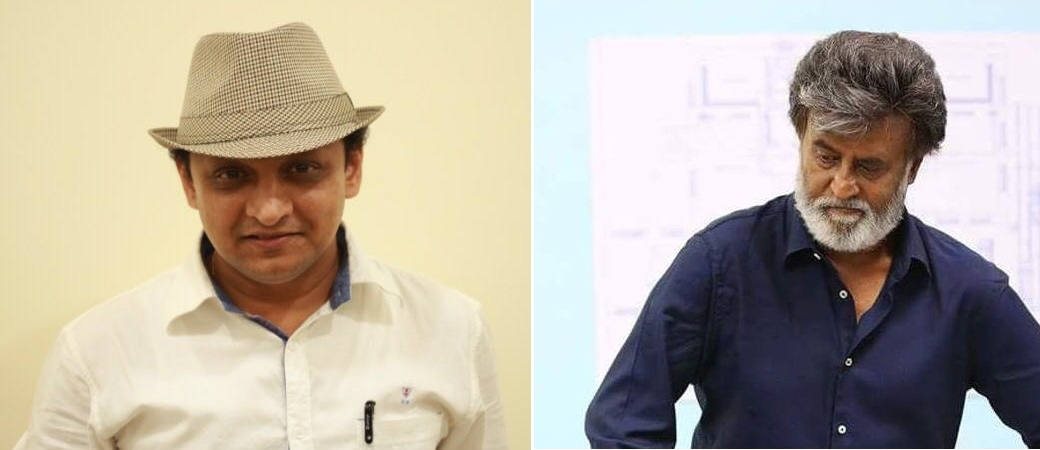 Mayur Vyas (left), voice of Rajinikanth in Hindi.