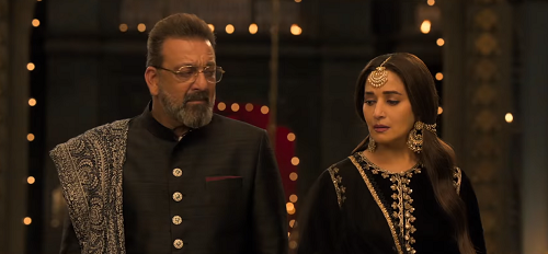 Sanjay Dutt and Madhuri Dixit in Kalank. Courtesy Dharma Productions/Nadiadwala Grandson Entertainment.