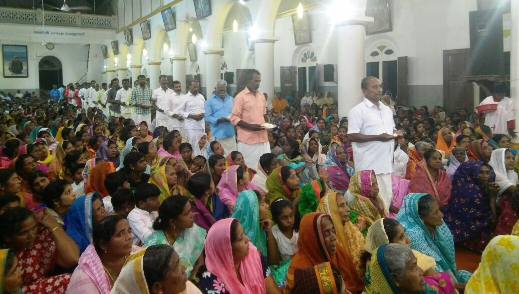 Christmas mass at St Thomas Church in Poonthura.