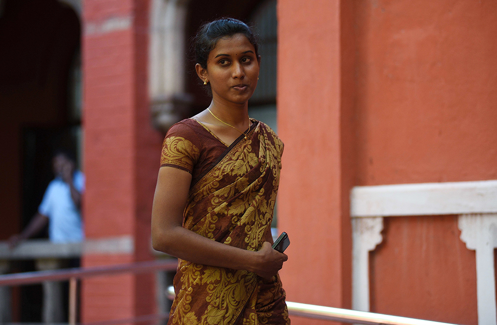 In 2015, the Madras High Court cleared the path for K Prithika Yashini, 25, to become India's first transgender sub-inspector of police. Credit: AFP
