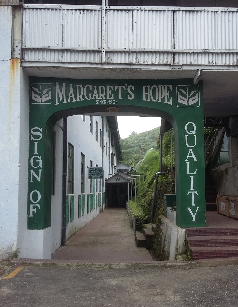 The entrance to the Margaret's Hope tea factory. Photo credit: Anuradha Sharma.