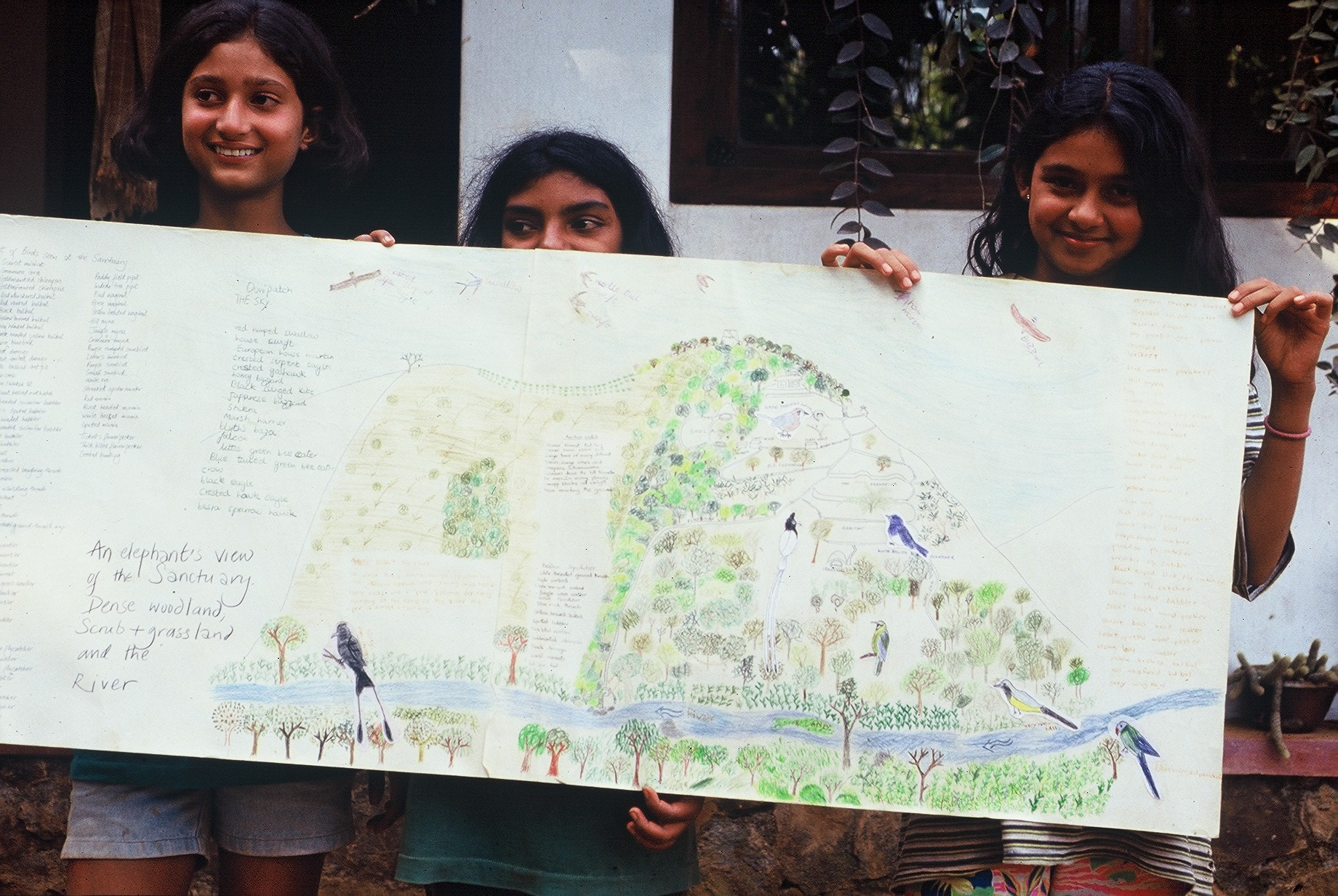 Students and visitors are taught about the centrality of the natural world to human life. Photo credit: Gurukula Botanical Sanctuary Archives