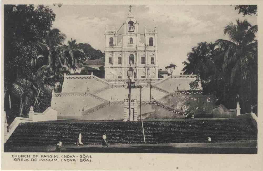 Church of Panjim. Printer/Publisher: Souza & Paul Fotografos, Nova Goa. Image courtesy: Sangeeta and Ratnesh Mathur.