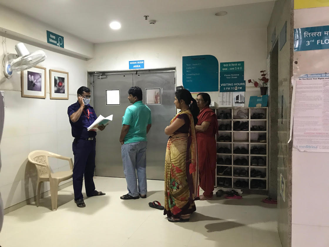 The Cardiac Intensive Care Unit of Meditrina Hospital where Loya was reportedly admitted. Credit: Supriya Sharma