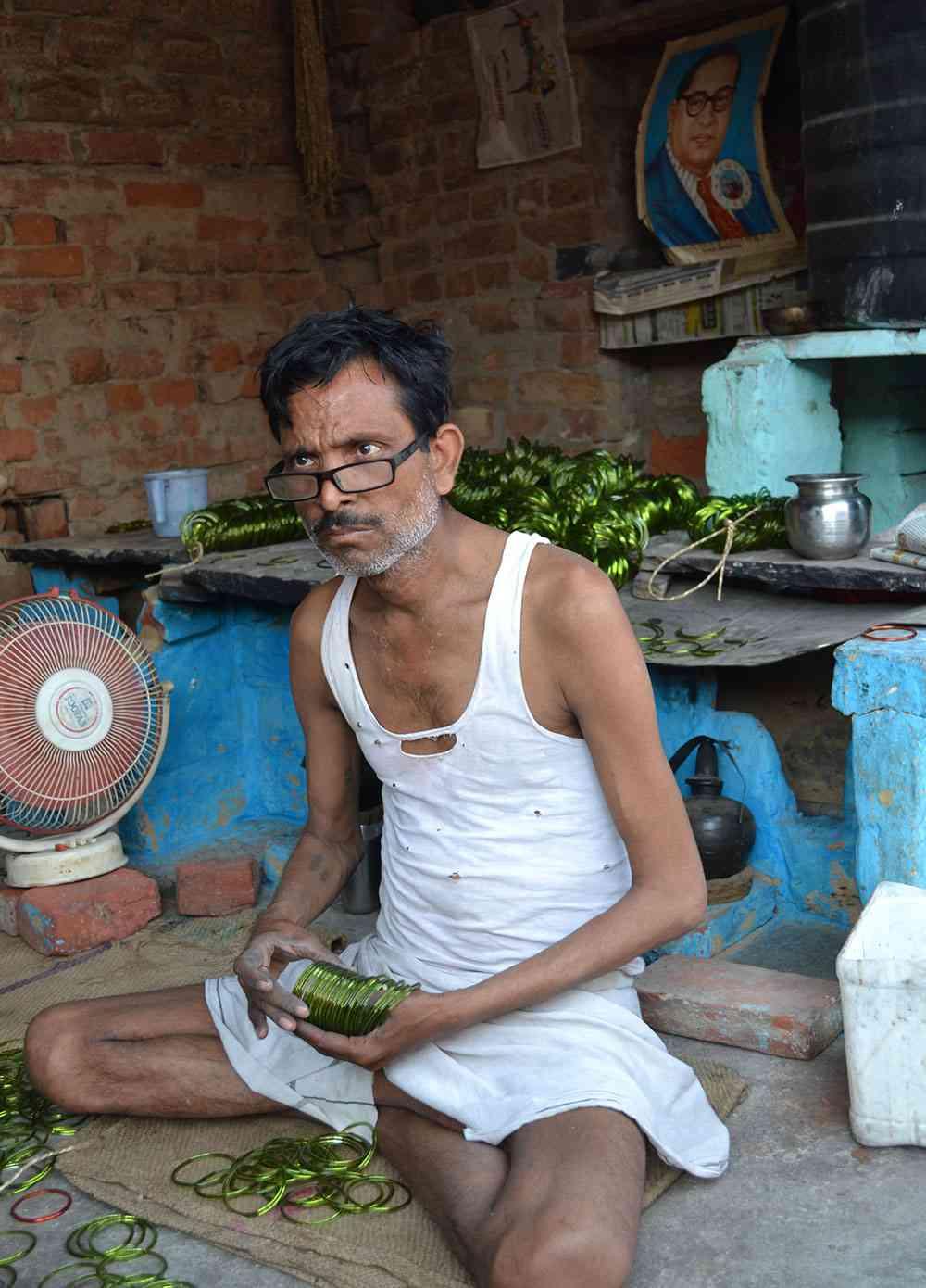 Vinod Kumar Gautam in Bhim Nagar, Firozabad. Photo credit: Akash Bisht