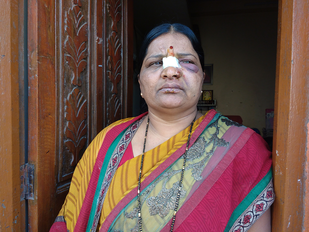 Ashok Dherange's wife. Photo: Mridula Chari