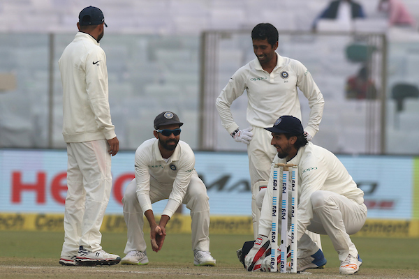 A light moment in the field at Kotla. Photo: Sportzpics.