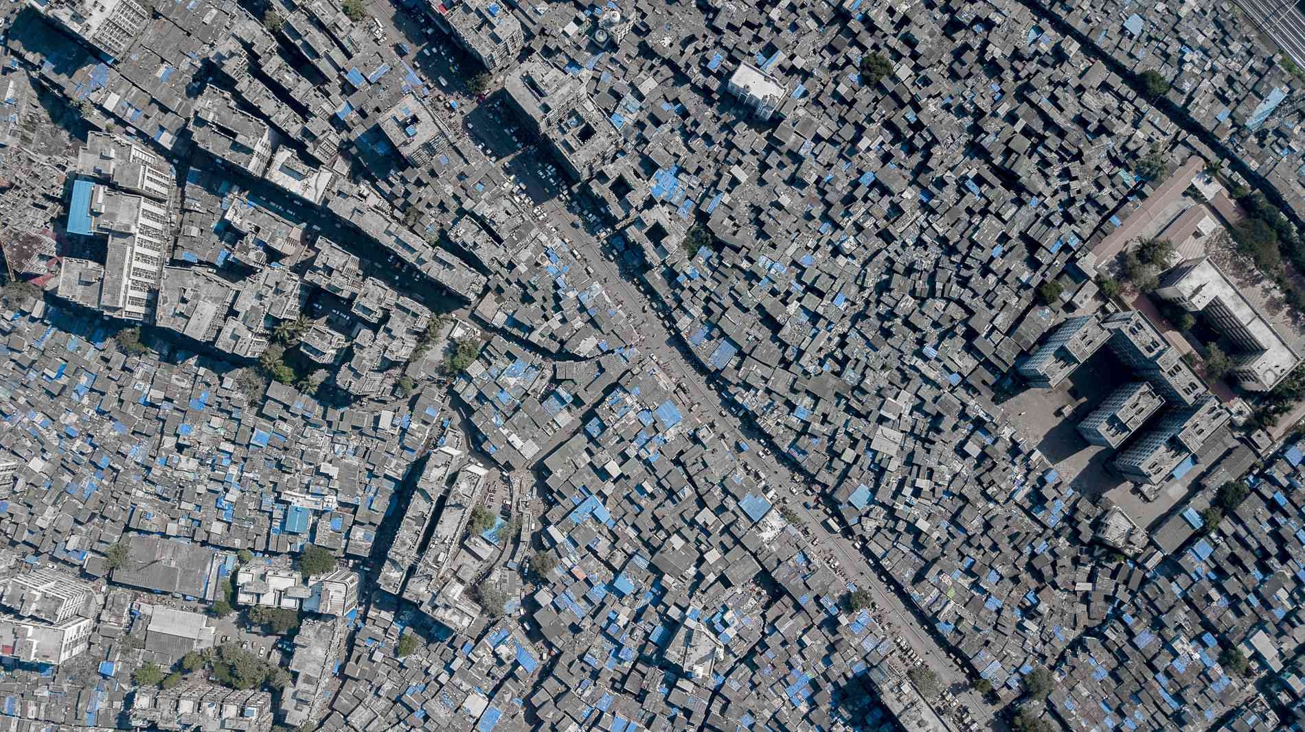 An aerial view of Dharavi.
