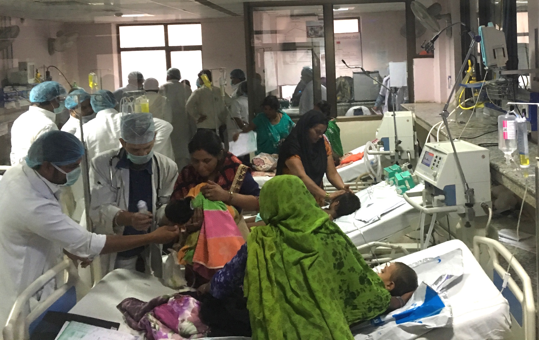A view of the children's ward in the hospital. Photo credit: Menaka Rao