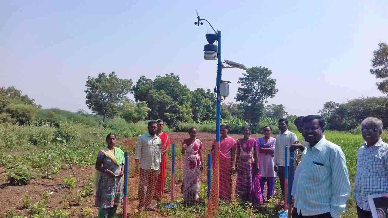 Mini weather stations have been installed at a few villages to study how the transition to natural farming is affecting soil and air health. Photo credit: Photo credit: Aritra Bhattacharya