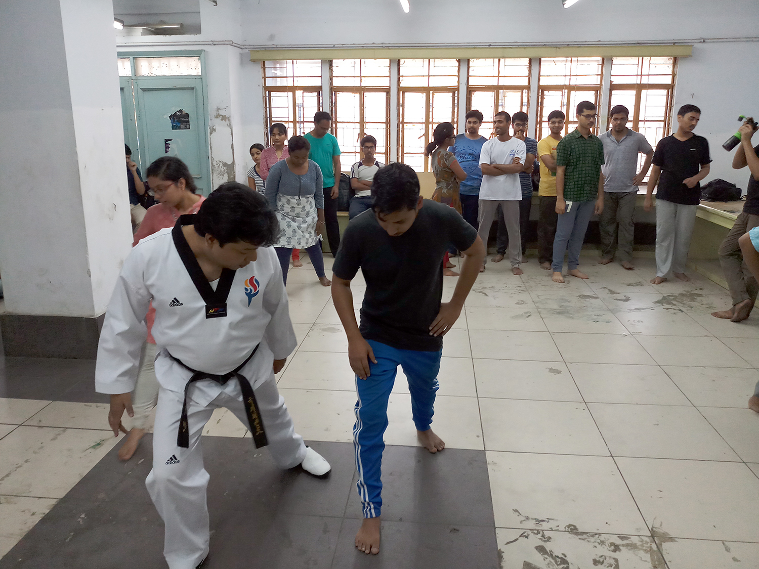 Pradipta Kumar Ray leads a training session. Photo credit: Gurvinder Singh