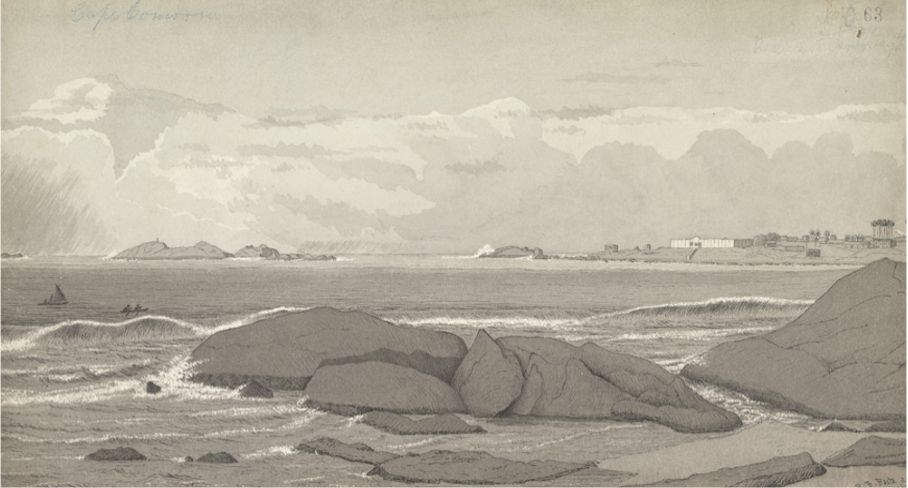 Robert Foote's sketch of Kanyakumari. Credit: Memoirs of the Geological Survey of India.