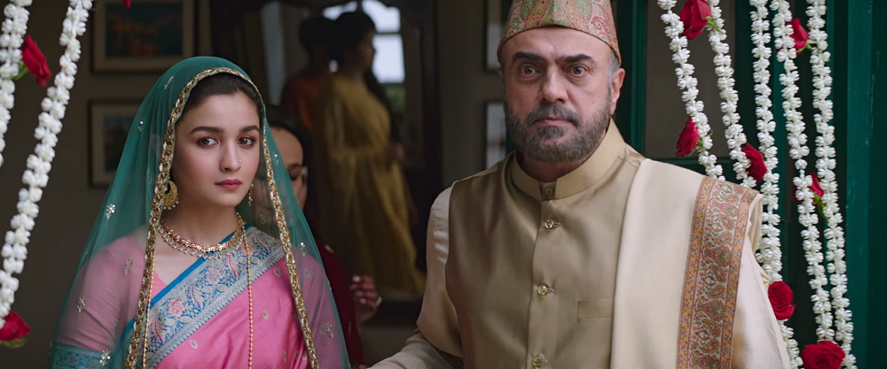 Alia Bhatt and Rajit Kapur in Raazi. Image credit: Junglee Pictures/Dharma Productions.