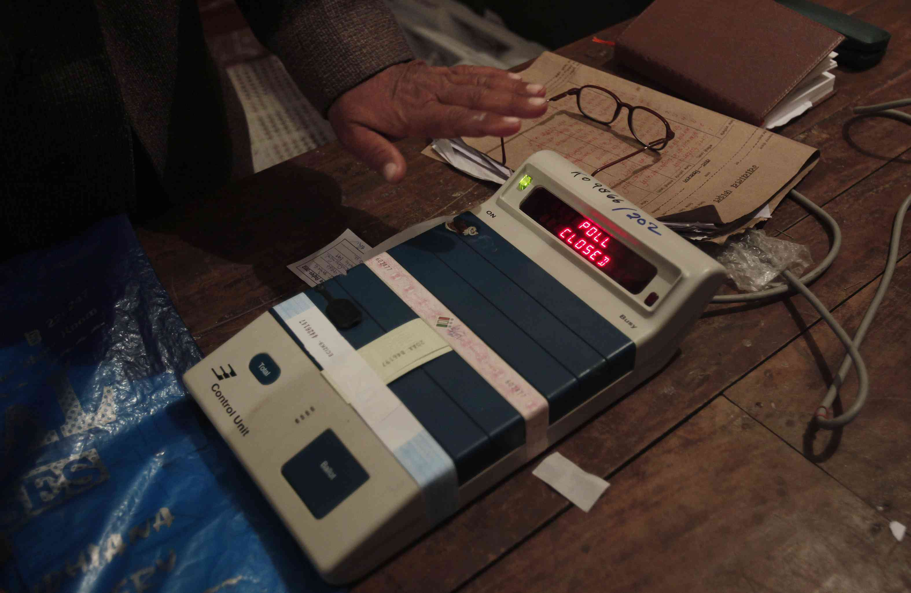 An EVM being tested. Photo credit: Reuters