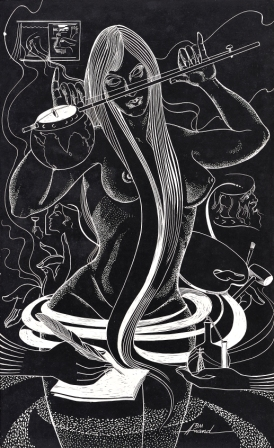 Muse of the artist (1968)/Art by Brij Mohan Anand.