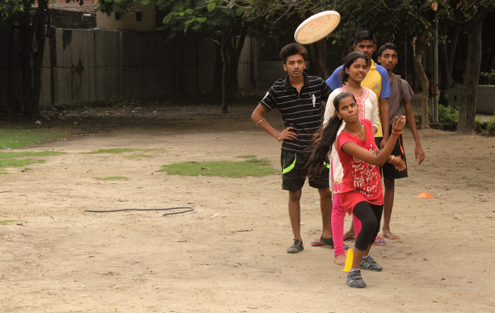Games like frisbee, football, netball and others are played at the workshops to balance workouts with a focus on both upper and lower body strength. They are also cheaper to play. Image credit: Chinmay Athaley