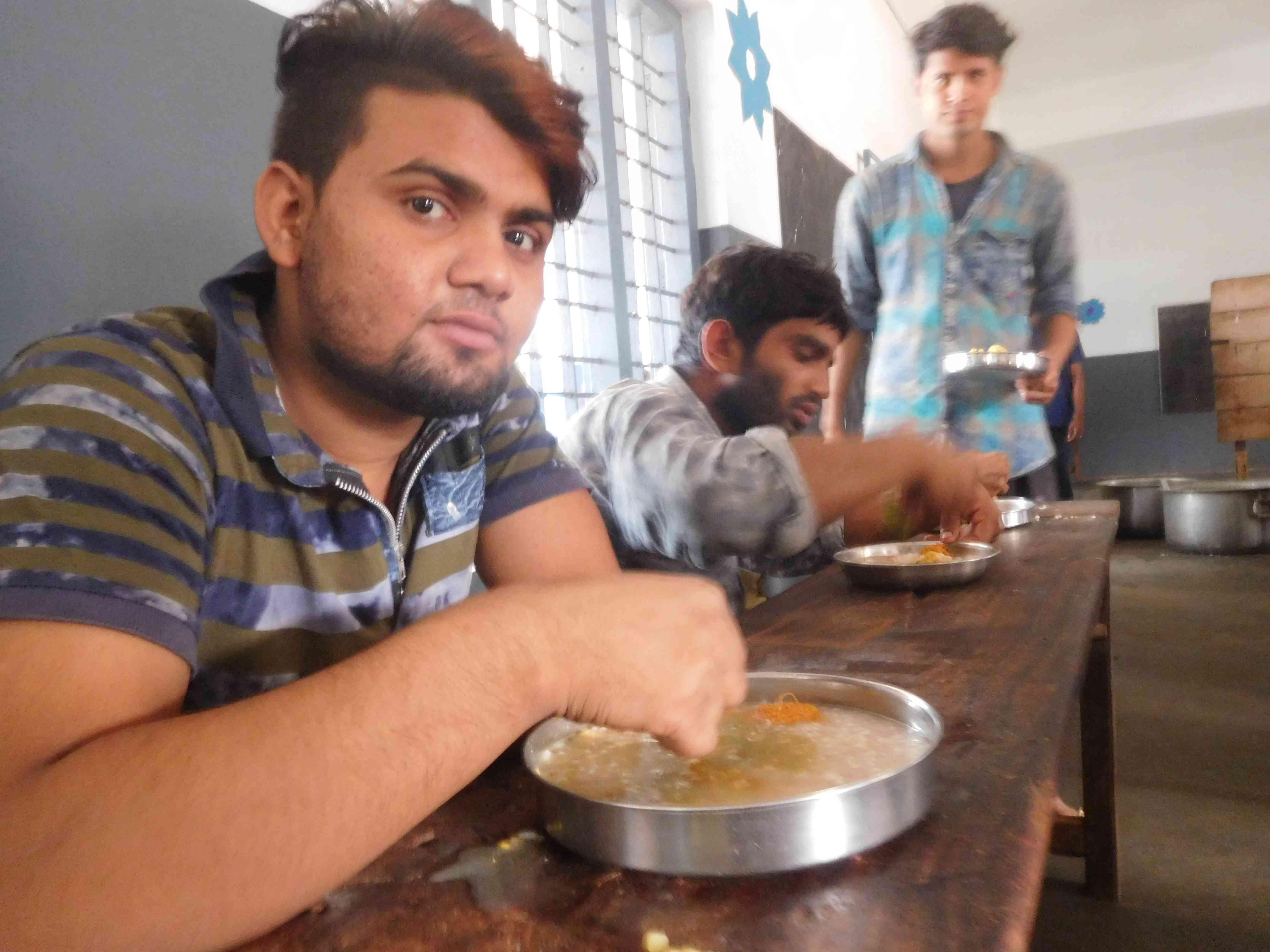 Migrant workers in the Puranattukara relief camp in Thrissur. Photo credit: TA Ameerudheen