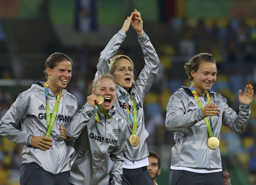 Germany won their first ever women's football Olympic gold, defeating Sweden 2-1 in the final. Along with United States and Norway, they are the only team to win both the World Cup and the Olympics. Image credit: Murad Sezer / Reuters