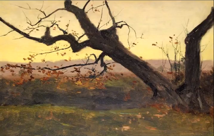 40 Days & 40 Nights: Eighty Paintings by Lockwood de Forest. Via YouTube
