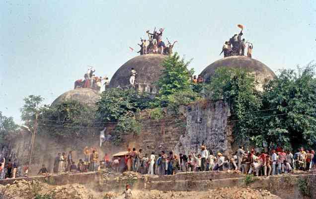 Vishal Kumar Gaur was among those who stormed the Babri Masjid on December 6, 1992. Credit; PTI