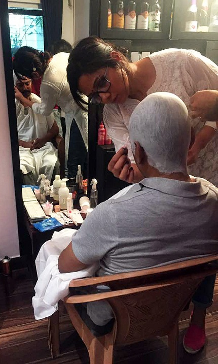 Preetisheel Singh's makeup design for Siddiqui in 'Mom'.
