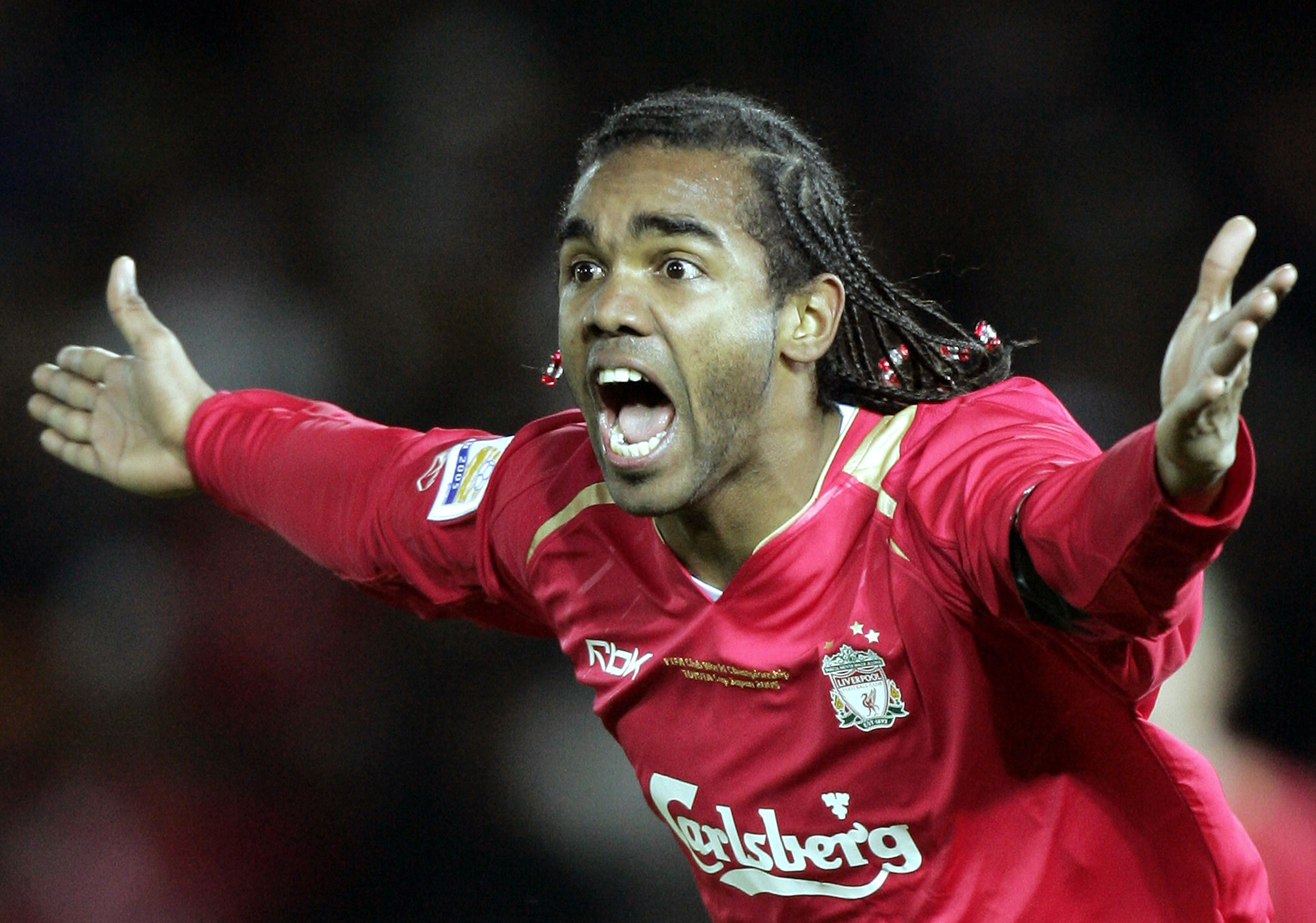 Sinama Pongolle first played for Liverpool in 2003 (Image: AFP)