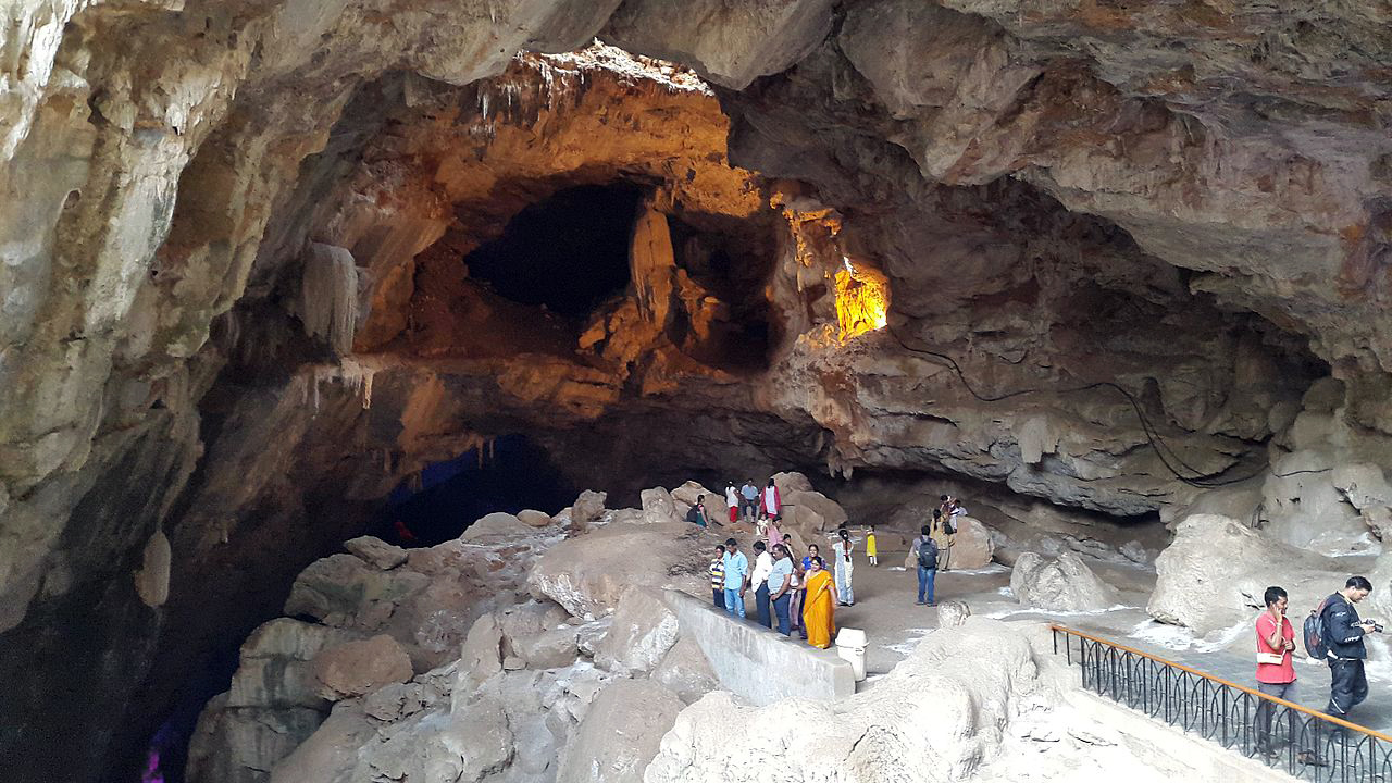 Image result for borra caves film shooting shivlinga