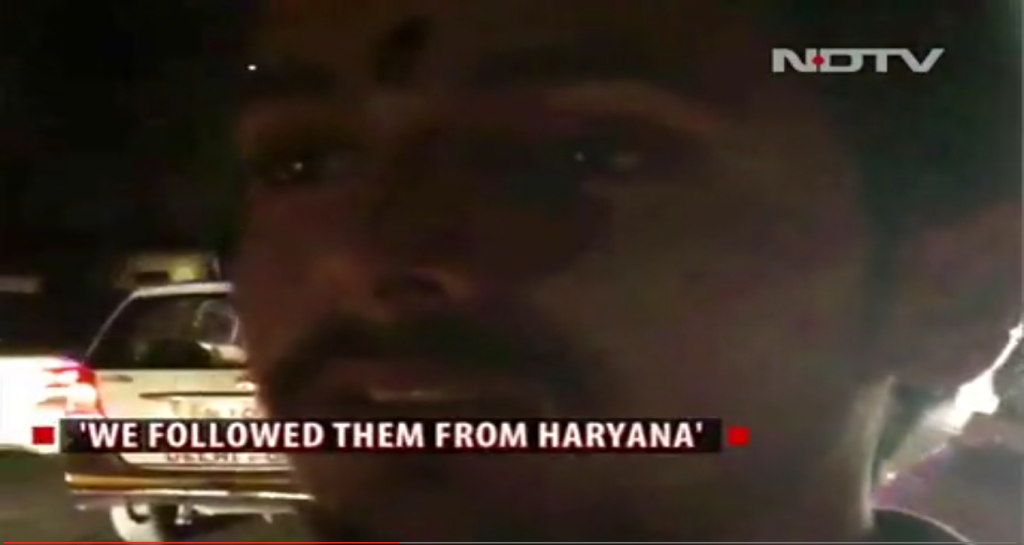 One of the suspected Kalkaji attackers in a videograb.