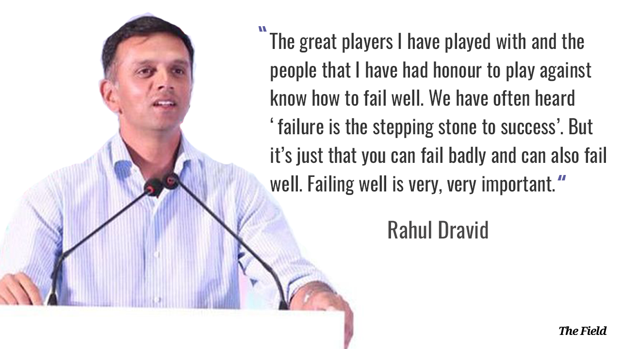 Rahul Dravid speaking at the GoSports Foundation Athletes' Conclave.