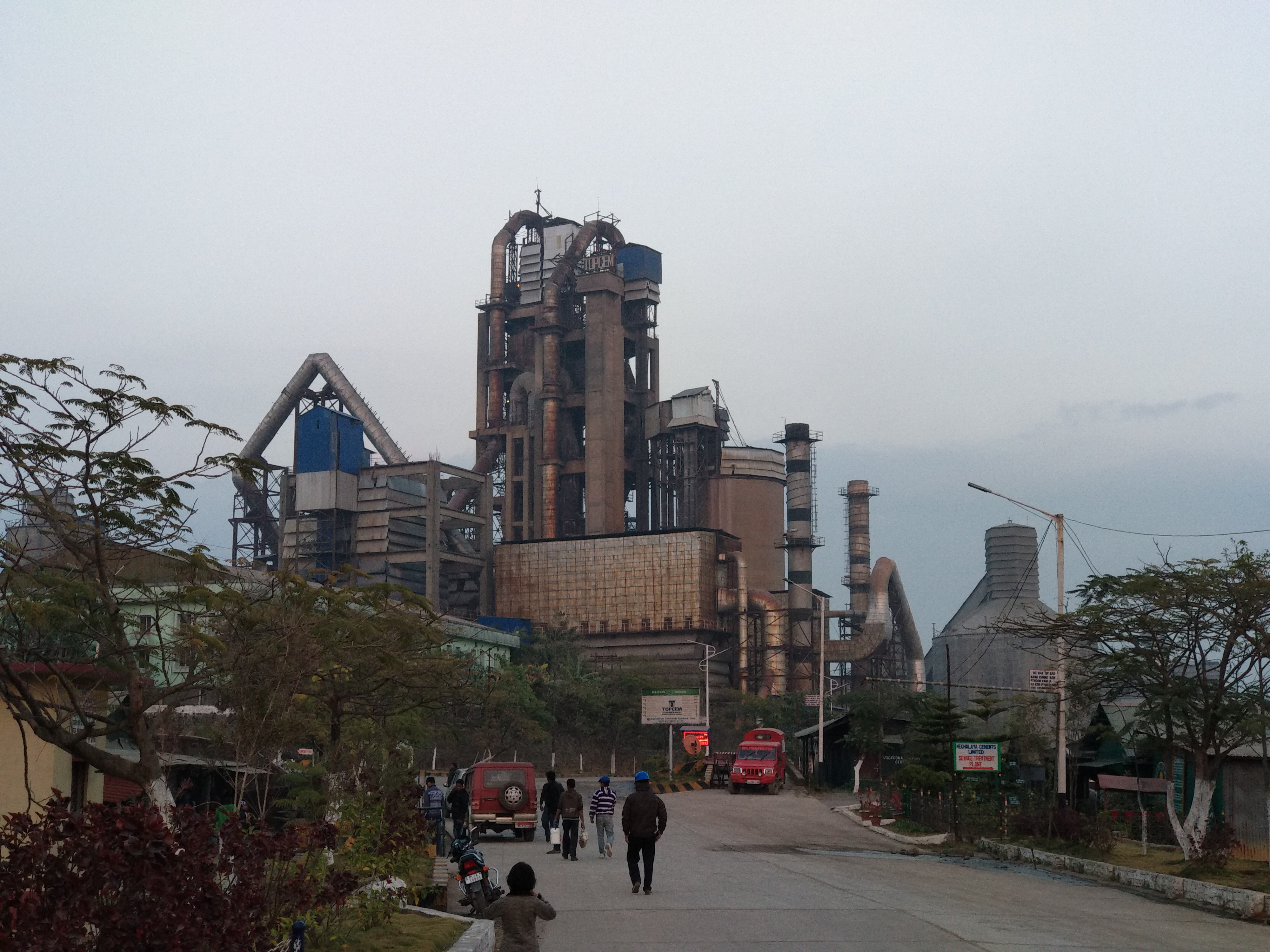 A cement factory in Lumshnong in the East Jaintia Hills. Most big cement plants such as this have their own limestone quarries.