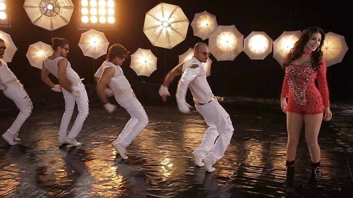 Sunny Leone filming a music video. Courtesy Dilip Mehta.