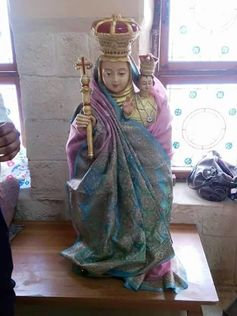 The Virgin Mary wearing a sari in the Karachi church dedicated to her devotion. D.Fernandes, Author provided