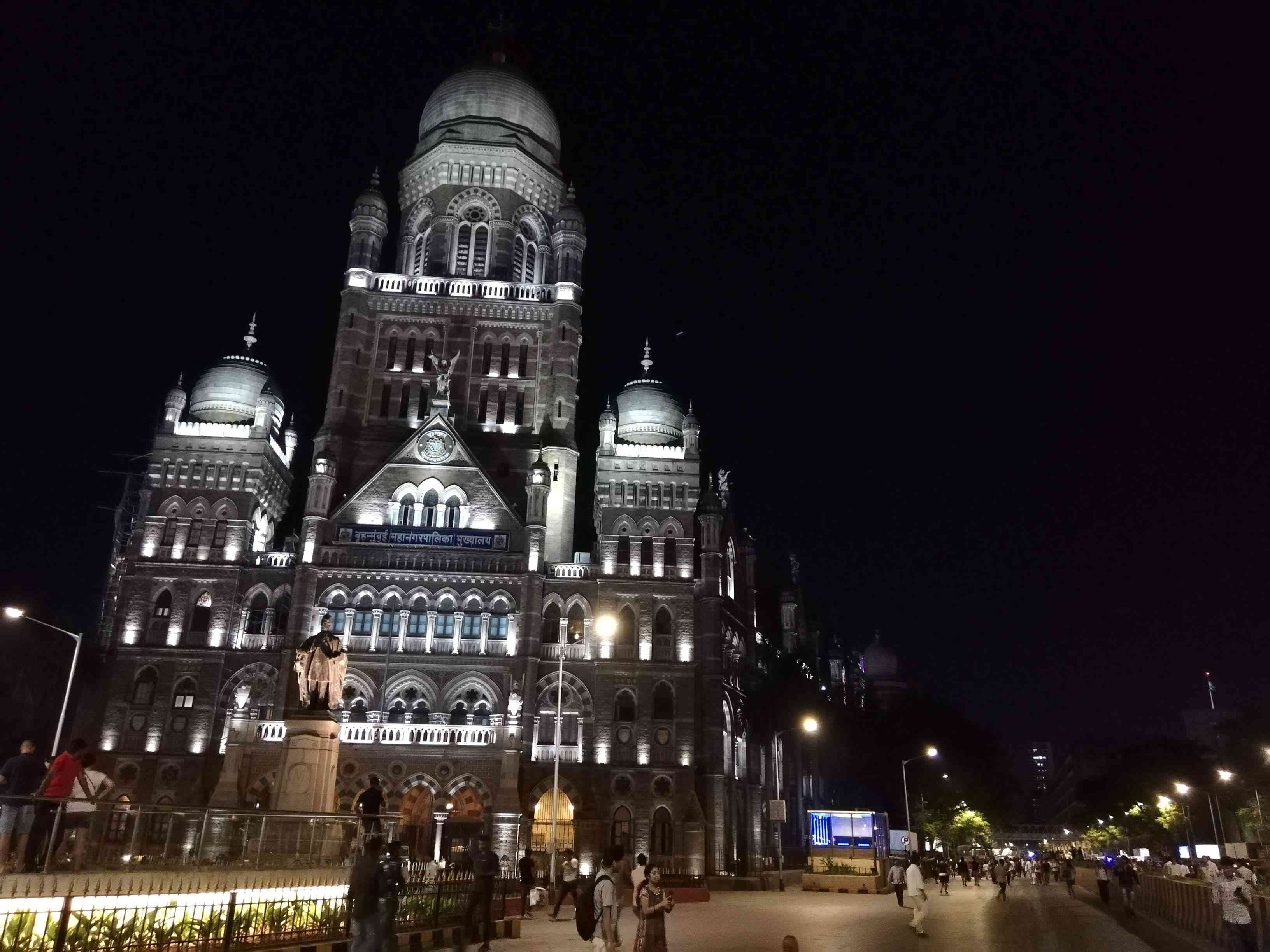 The headquarters of Mumbai's municipal corporation is just 100 metres away from the collapsed bridge, which is just visible to the right. Photo: Mridula CHari