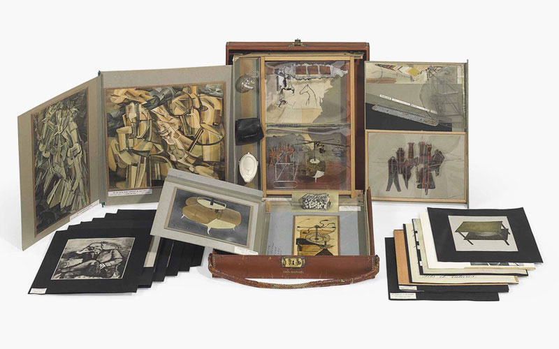 Marcel Duchamp's miniatures. (Image credit: www.christies.com)