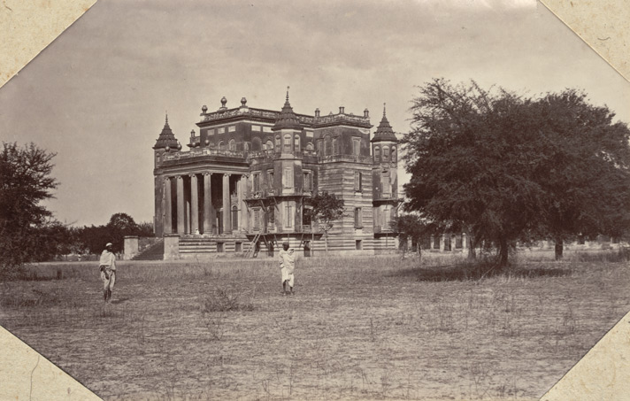 Right: Dilkoosha Palace, Lucknow by Baker and Burke, 1860s. Photo credit: British Library, Photo 938/3(5)