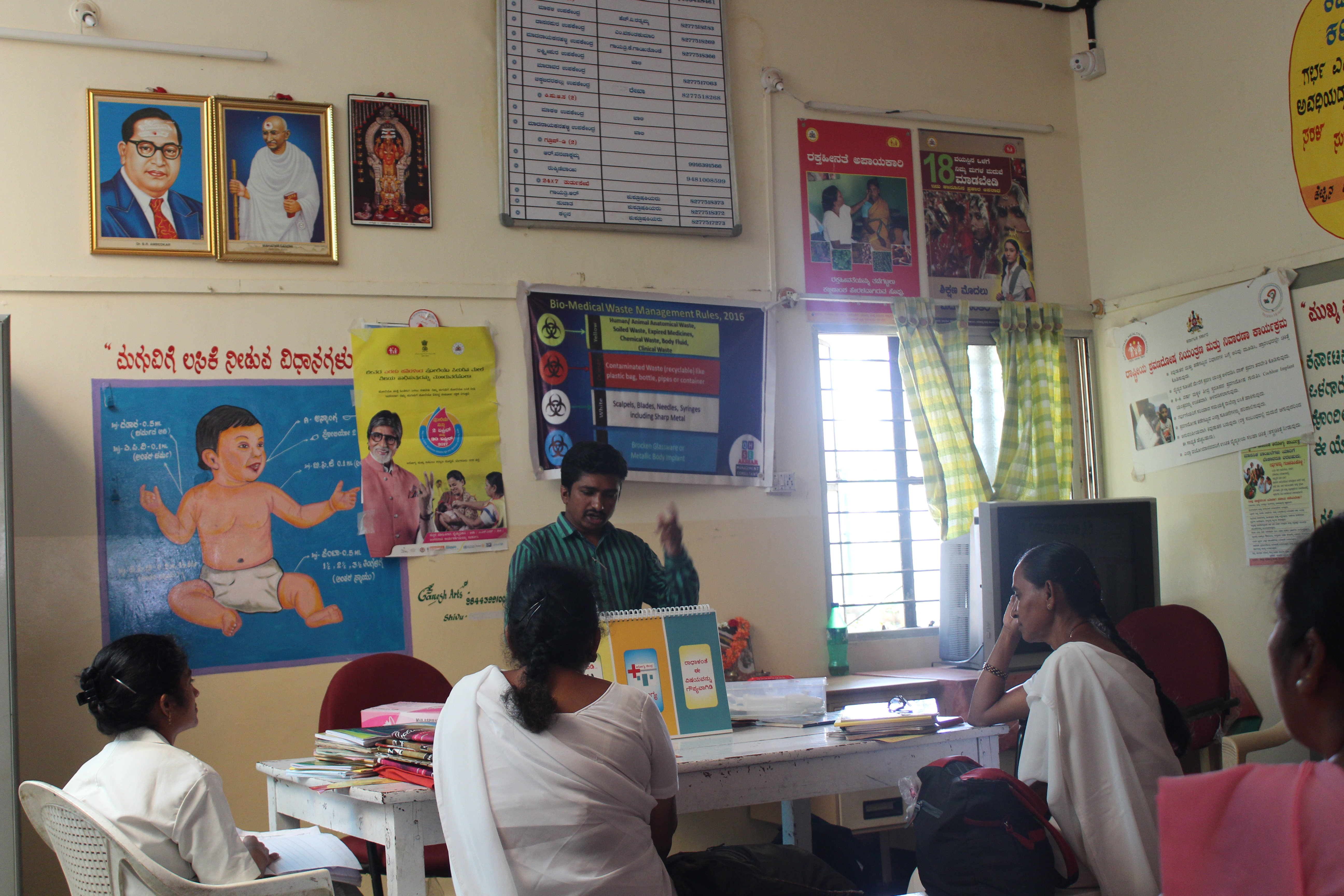Primary health centre staff being trained in safe abortion procedures at Madanayakana Halli PHC on the outskirts of Bengaluru. Photo: Jyotsna Singh
