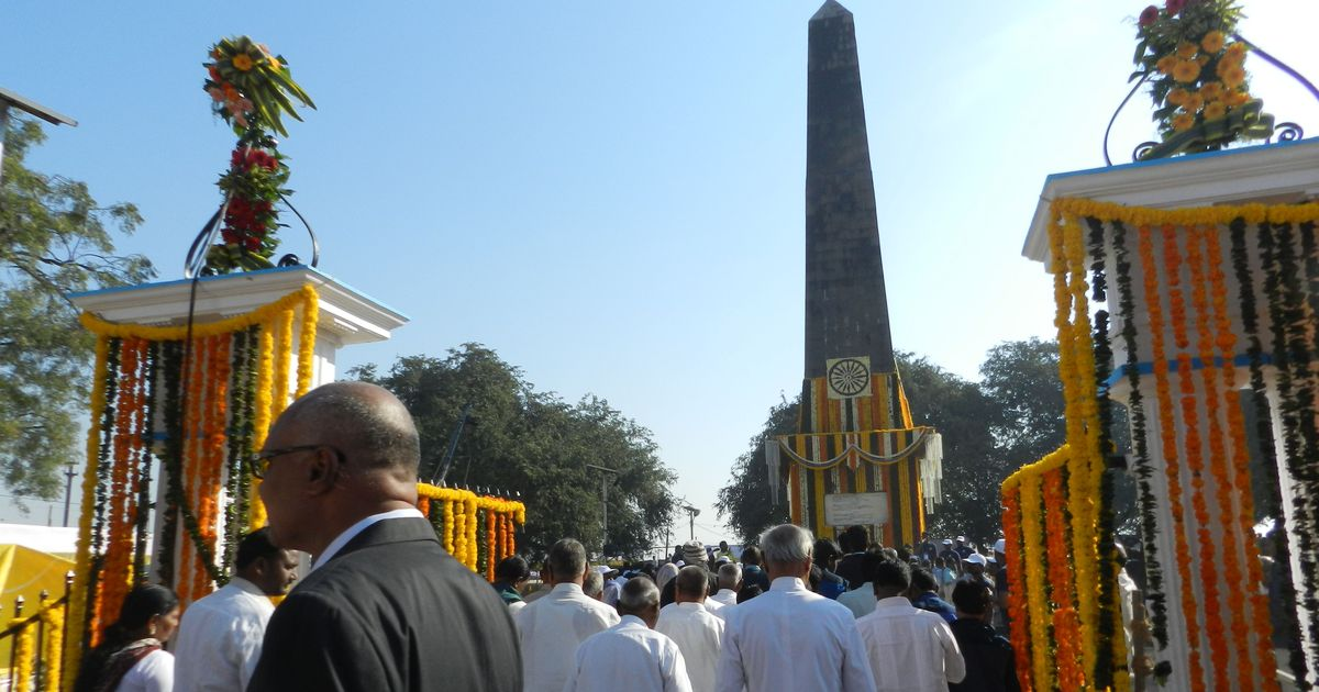 The Victory Pillar at Bhima Koregaon. Credit: Mridula Chari.