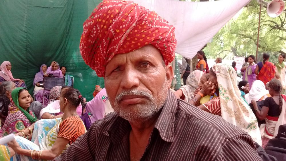 Mool Singh, who owns a small plot of plot on arid Ajmer is worried his pension has been discontinued without informing him.