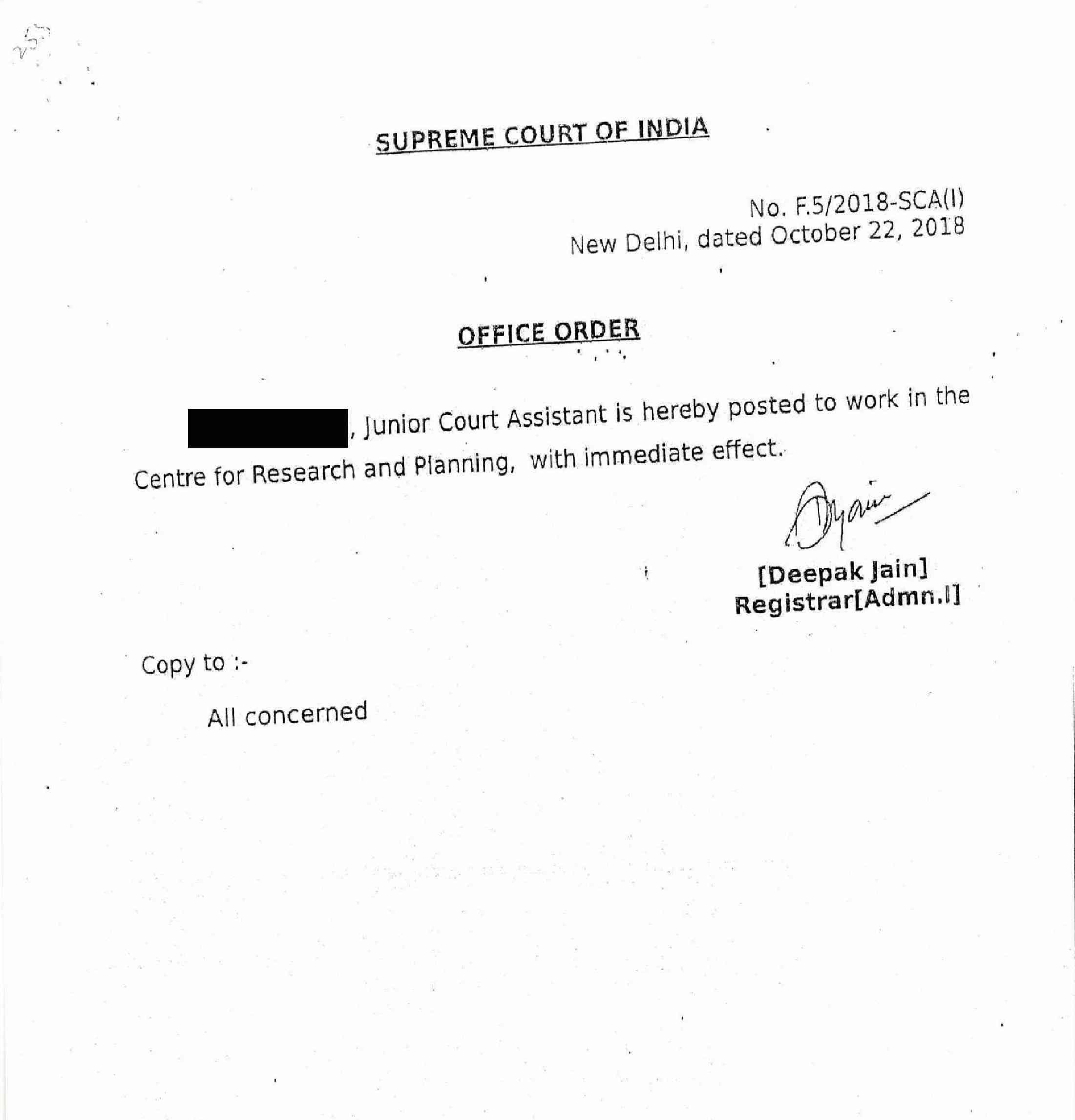 Chief Justice of India Ranjan Gogoi sexually harassed me