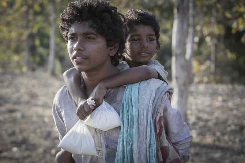 Abhishek Bharate and Sunny Pawar in Lion (2016). Courtesy The Weinstein Company.