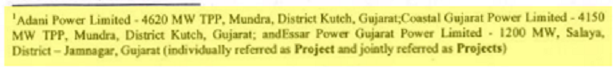 The footnote mentioned only three projects.