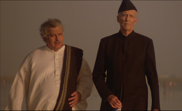 Shashi Kapoor and Christopher Lee in 'Jinnah'. Courtesy Jamil Dehlavi.