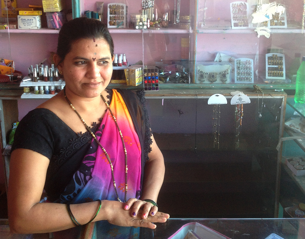 Beauty parlour owner Shalini Anande has applied for a card swipe machine.