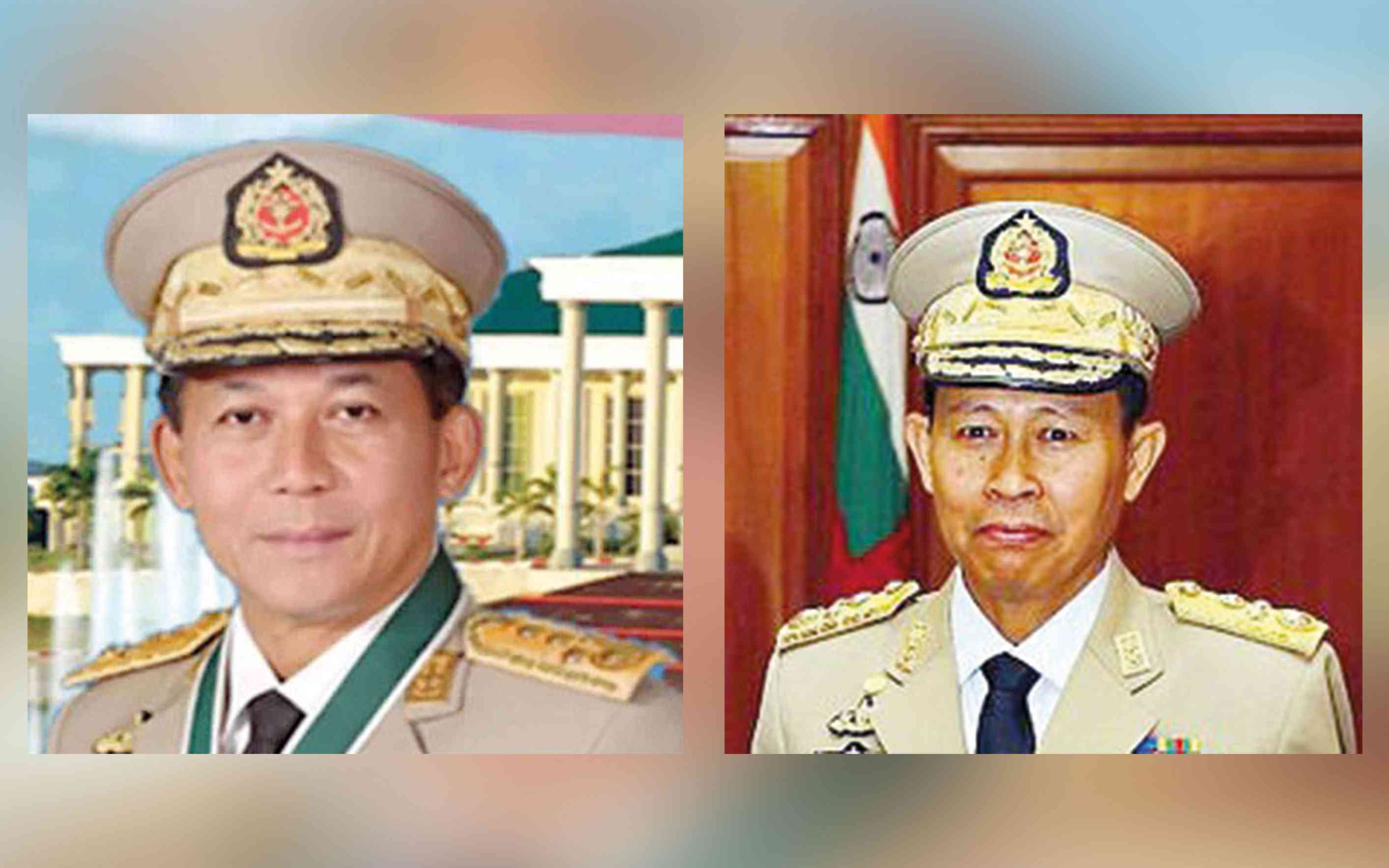 Senior General Min Aung Hlaing, left, and Vice Senior General Soe Win. Photo credit: Wikimedia Commons