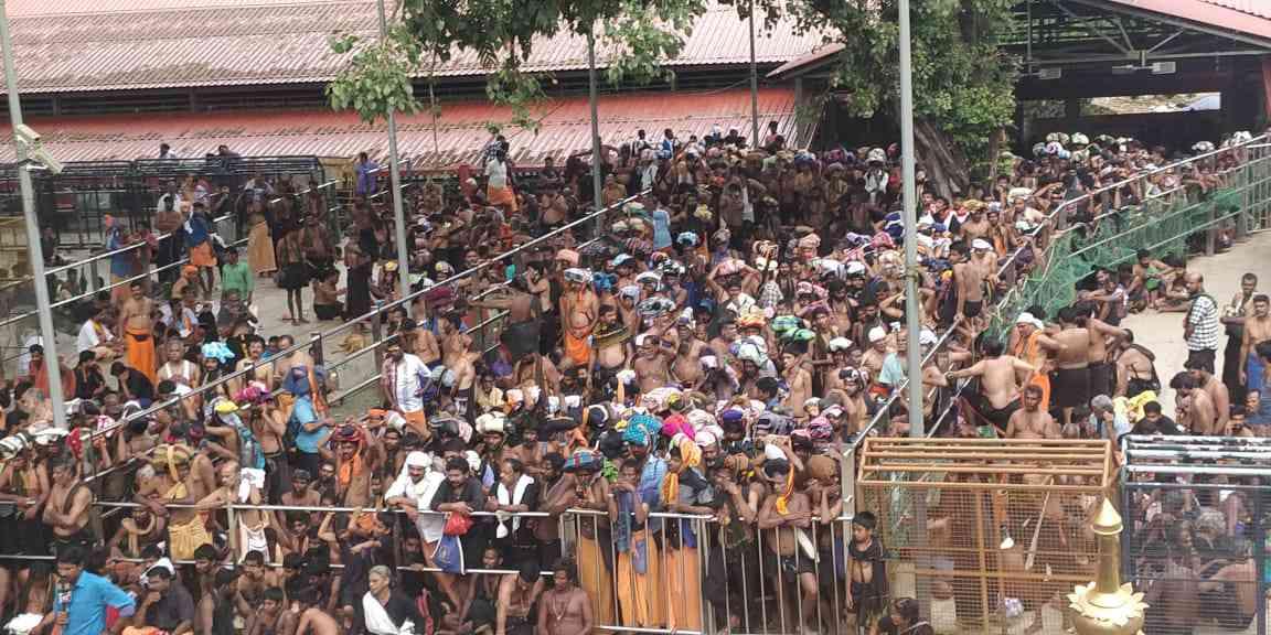 Devotees awaiting darshan at Sabarimala (Credit: By special arrangement)